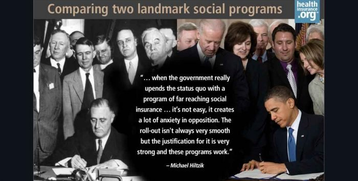 FDR's New Deal and Obama's newer deal