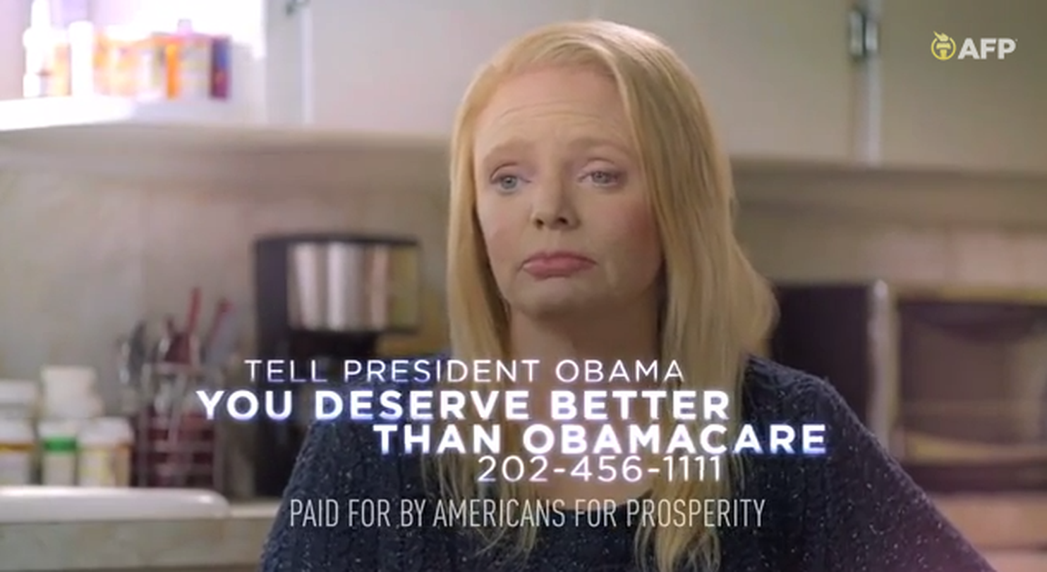 Screen shot from Americans for Prosperity video