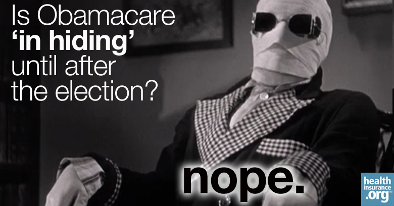Is Obamacare 'in hiding' until after the election? photo