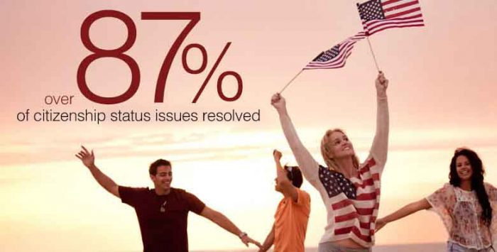 87 percent of citizenship issues? Not issues after all.