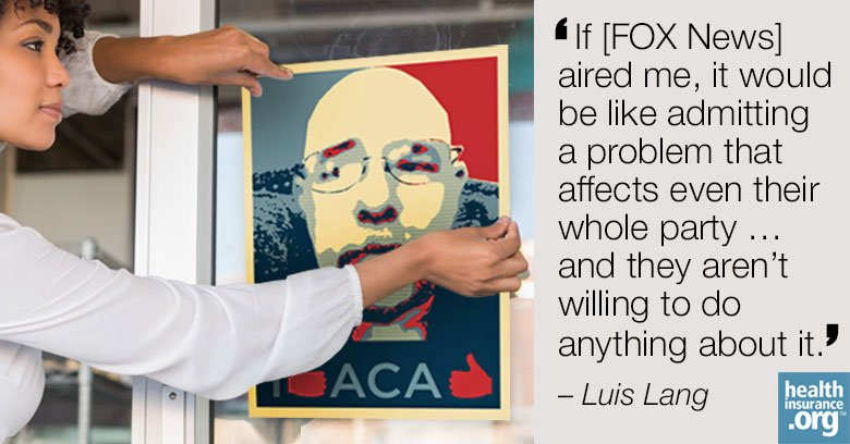 Luis Lang wants to be Obamacare's 'poster child' photo