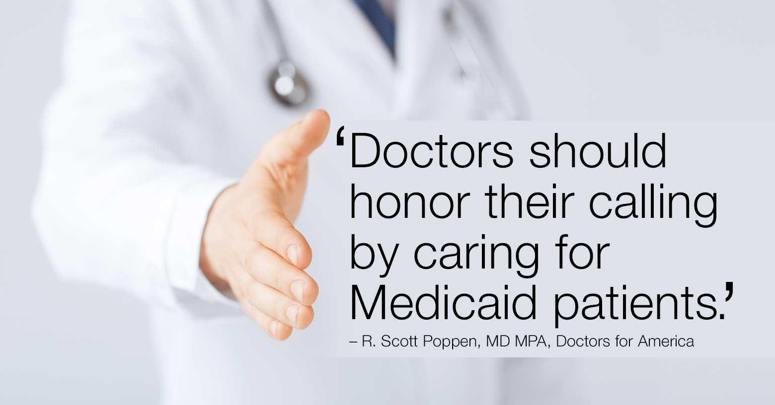 Medicaid patients deserve our care photo