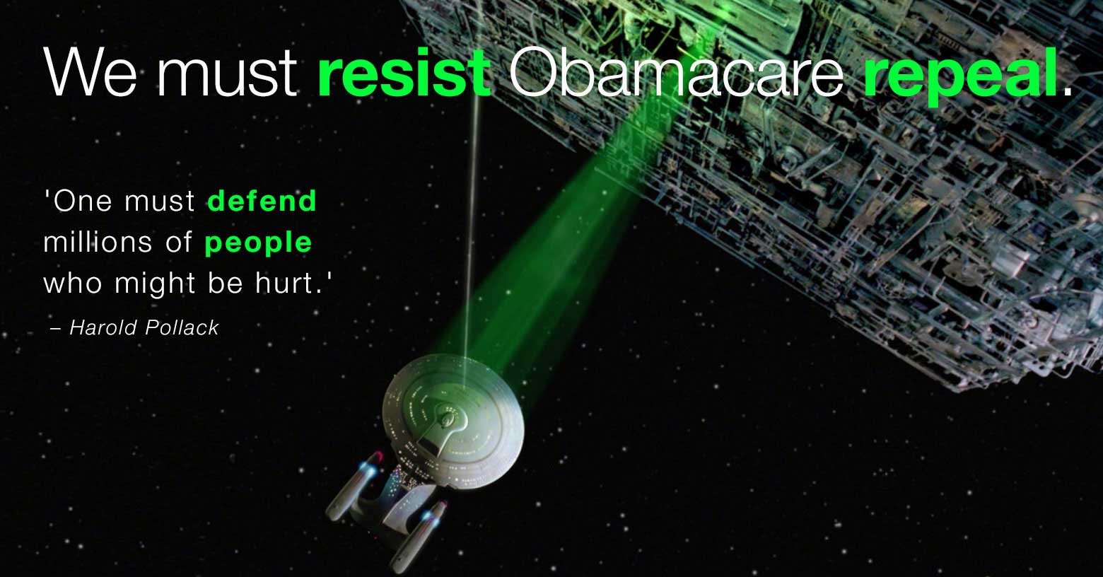 Resistance to repeal will not be futile. photo