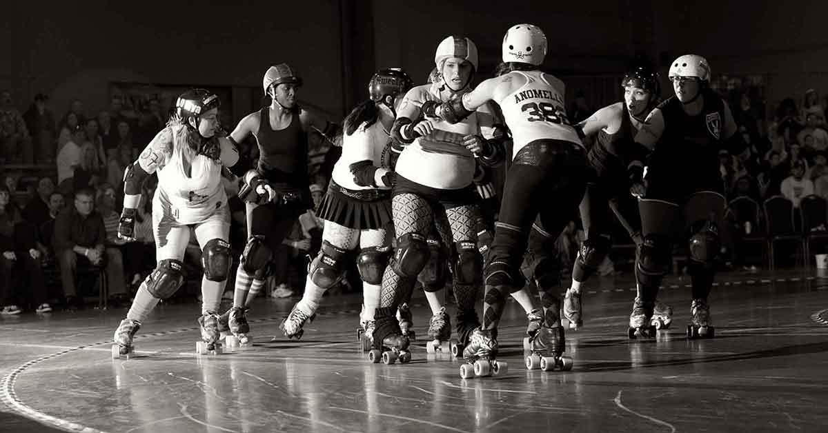 Oklahoma roller derby action.