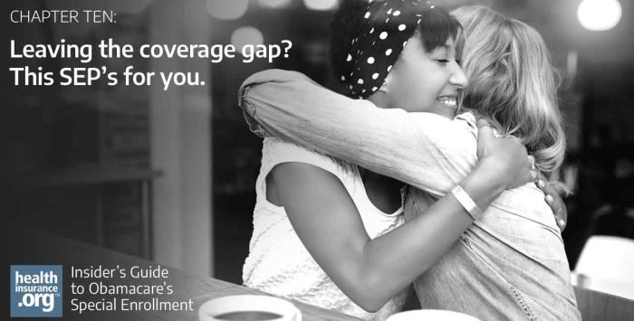 Leaving the coverage gap? This SEP's for you.